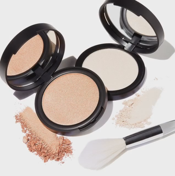 elf: New Shimmer Highlighting Powders & Beautifully Precise Tapered Highlighting Brush