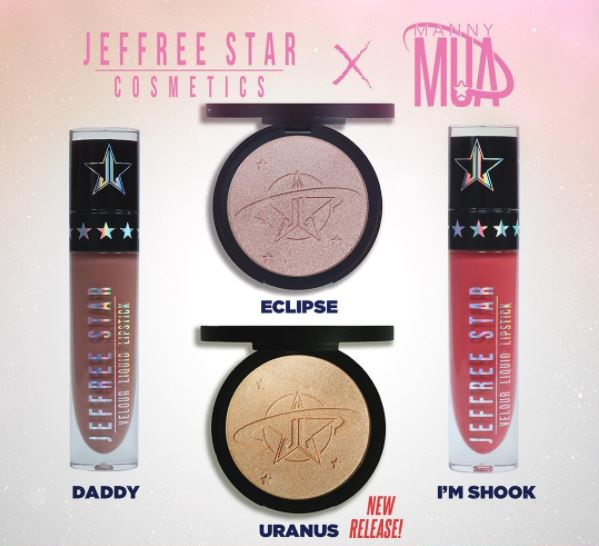Jeffree Star X Manny MUA: Uranus Highlight
